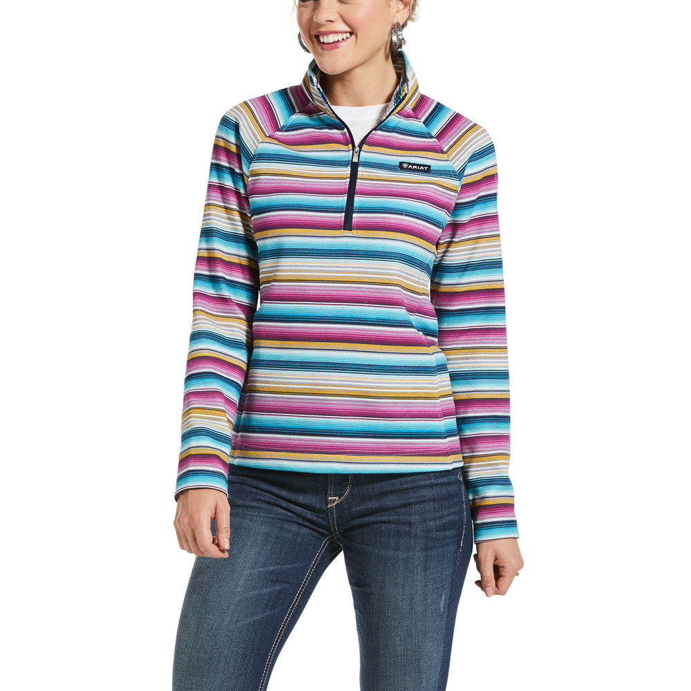 10032788 Ariat Women's REAL Comfort 1/2 Zip Serape Stripe Sweatshirt