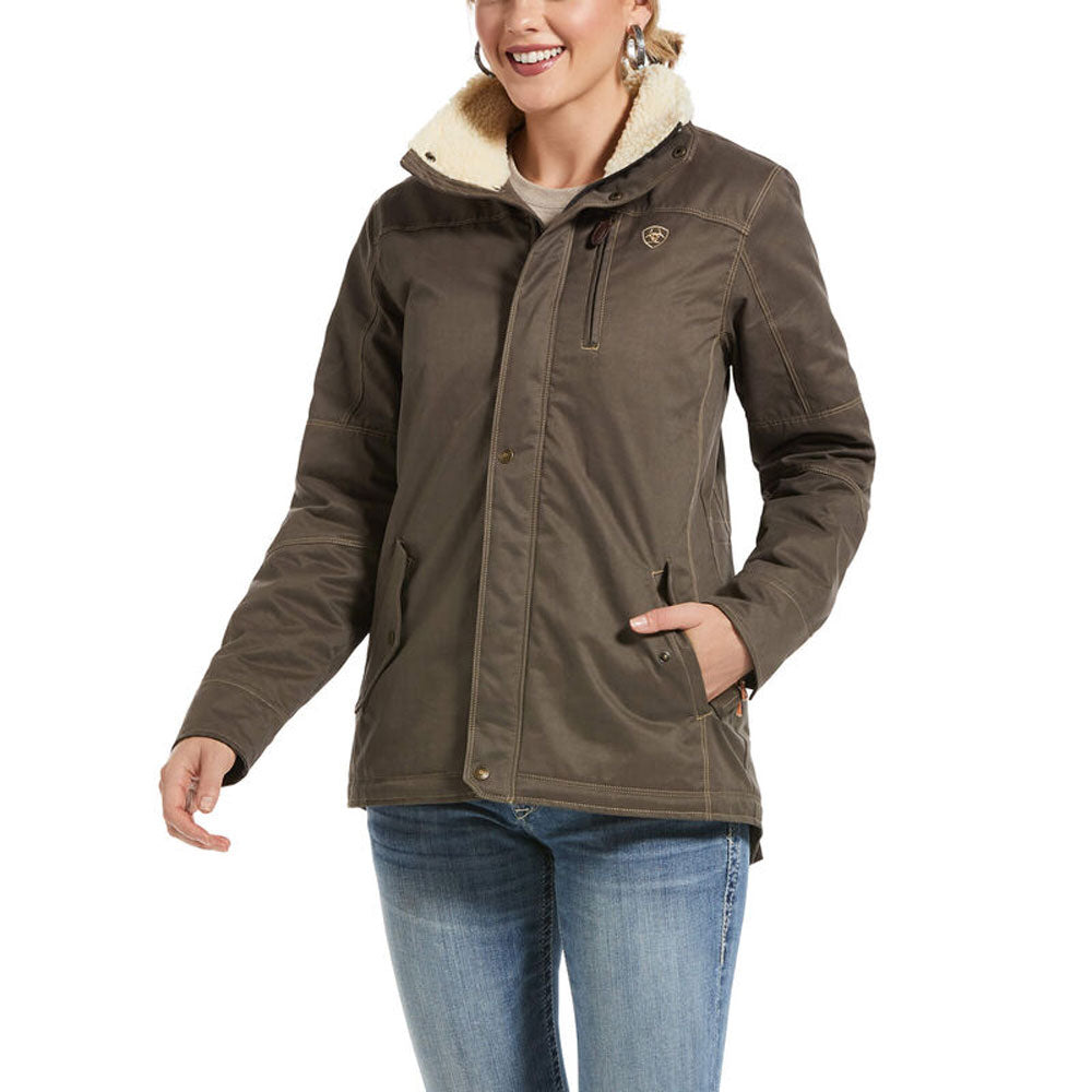 10032988 Ariat Women's REAL Grizzly Jacket Banyan Bark