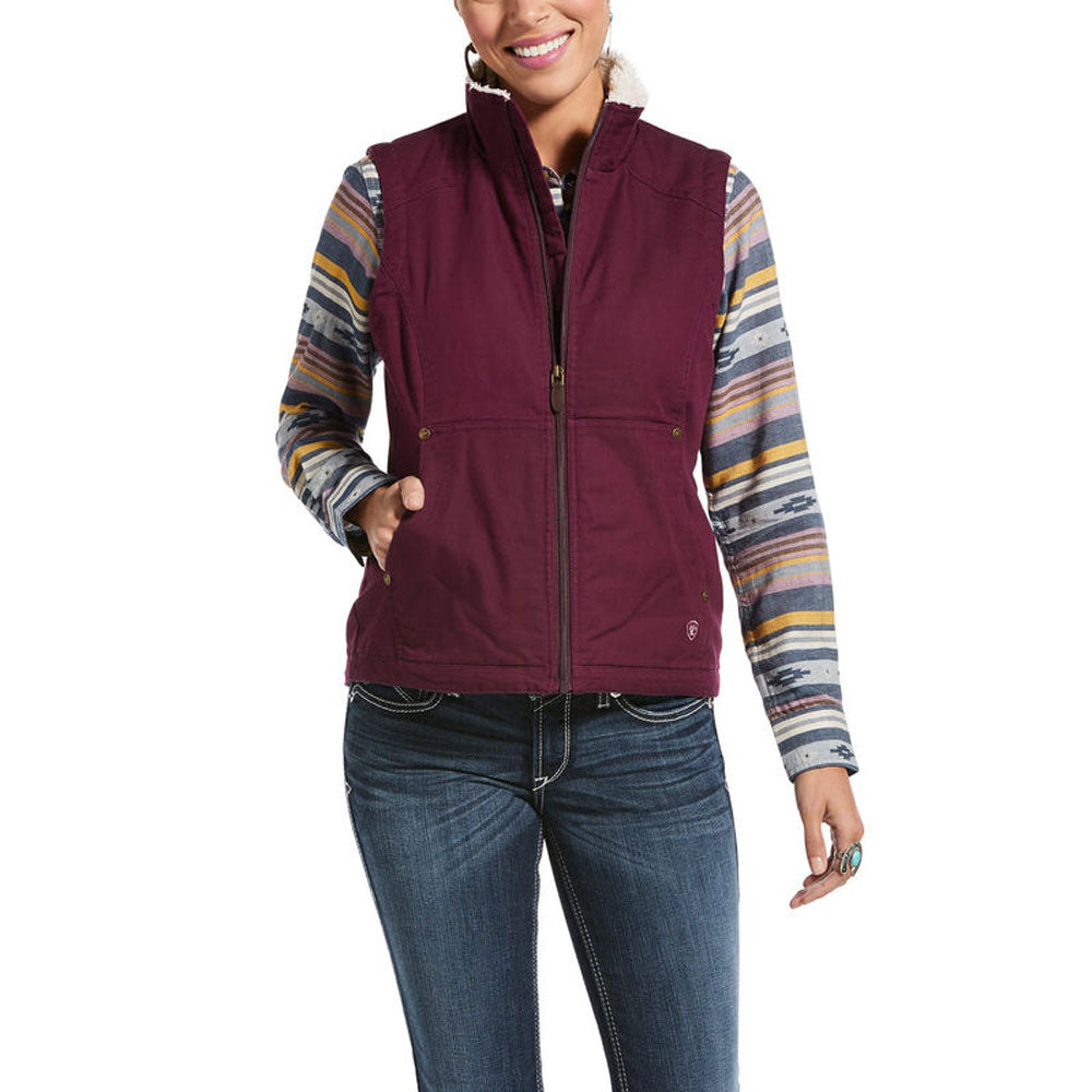 10033008 Ariat Women's R.E.A.L. Outlaw Vest Winetasting
