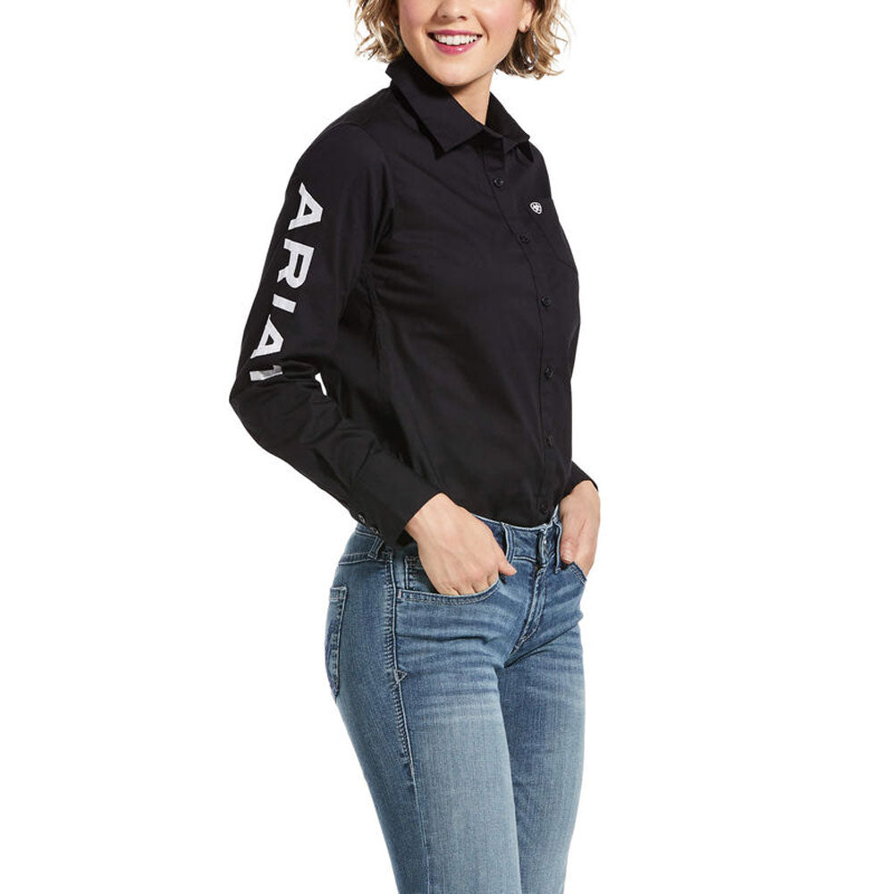 10033034 Ariat Women's Team Kirby Stretch Shirt Black