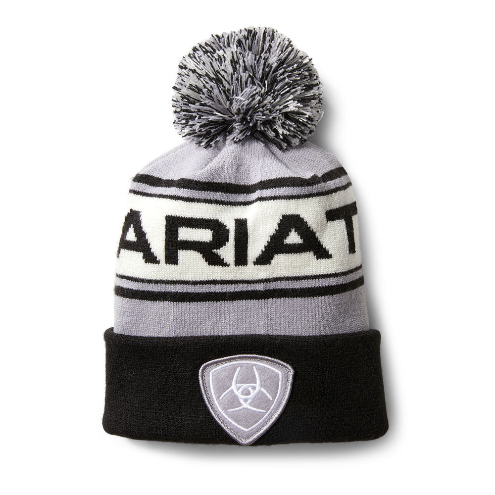 10033360 Ariat Team Beanie Black, Grey & White
