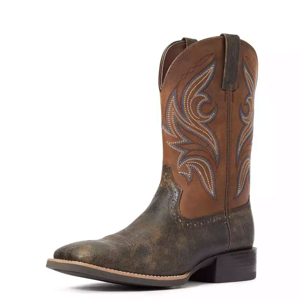 10033982 Ariat Men's Sport Knockout Western Cowboy Boot Brooklyn Brown