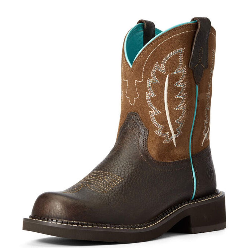 10034009 Ariat Women's Fatbaby Heritage Feather II Western Boot Cottage