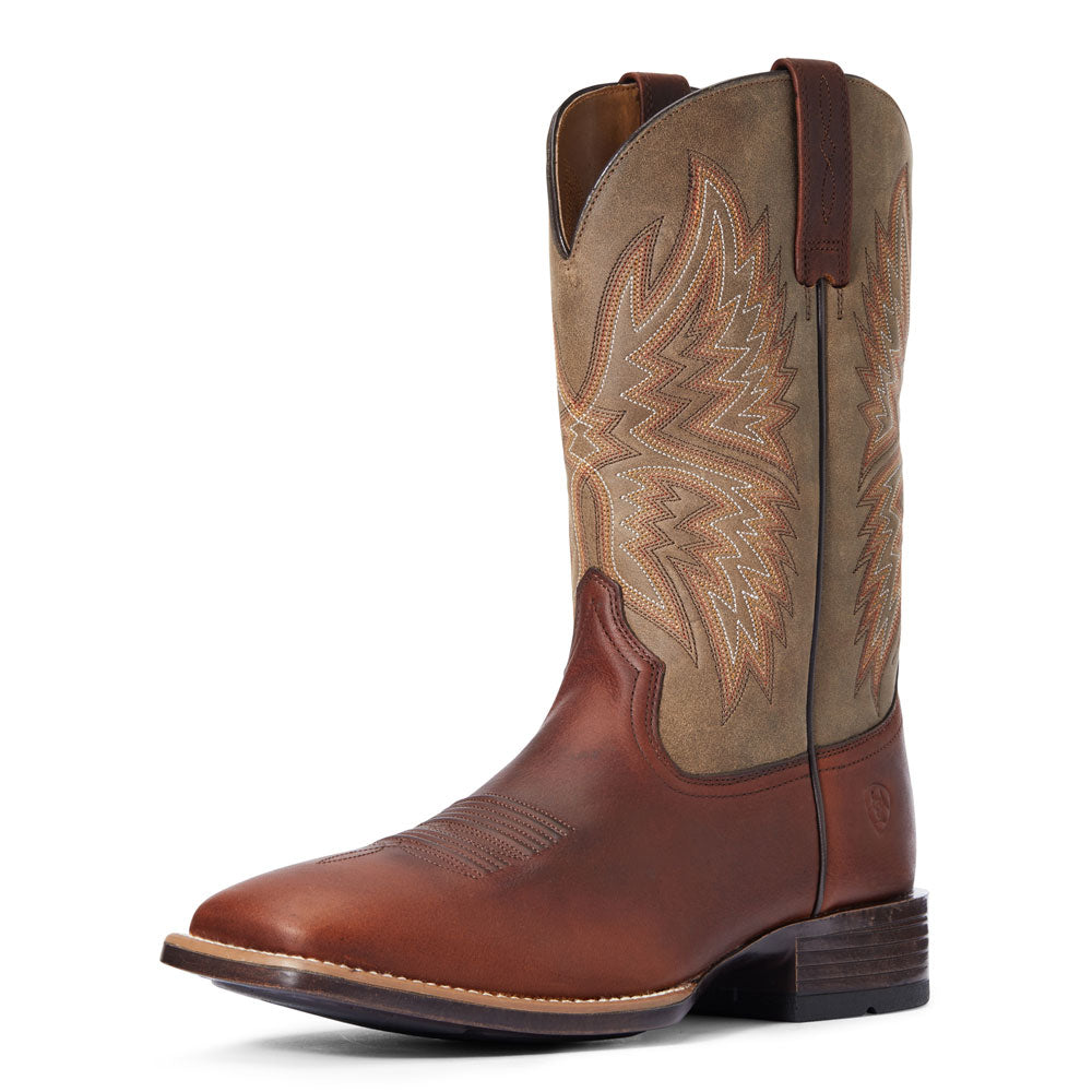 10034081 Ariat Men's Valor Ultra Western Boot Peanut