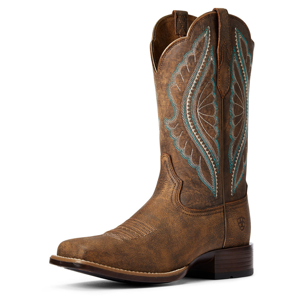 10034163 Ariat Women's Primetime Western Boots Brown
