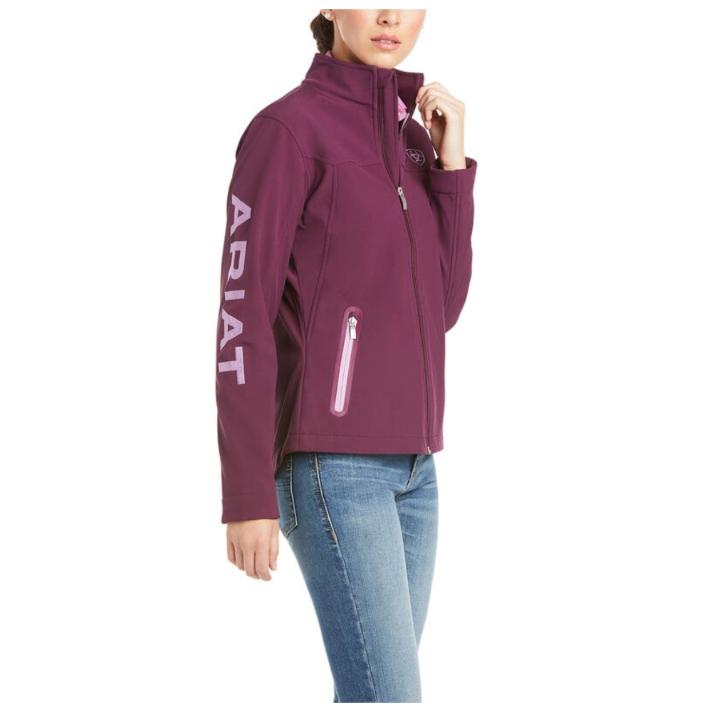 10034920 Ariat Women's New Team Softshell Jacket - Italian Plum