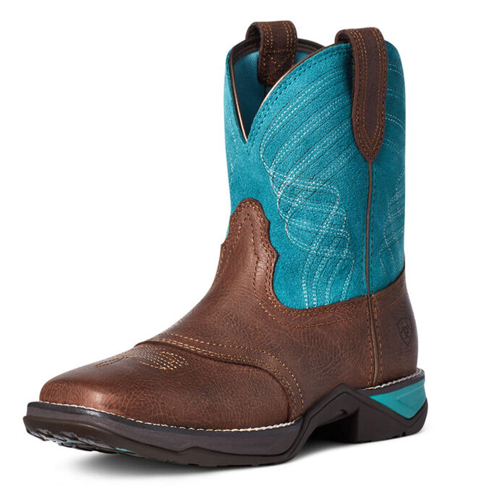 10035776 Ariat Women's Anthem Shortie Western Boot Dark Barley