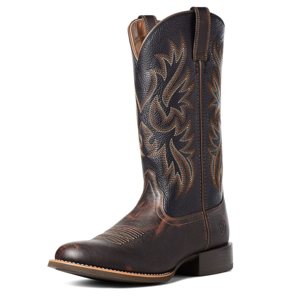 10035894 Ariat Sport Doolin Western Boot Dark Sparrow