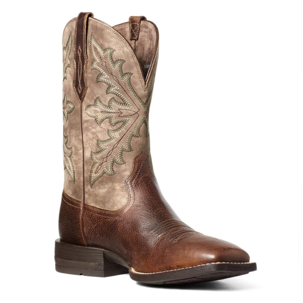10035901 Ariat Men's Shock Shield Qualifier Western Boot - Wicker