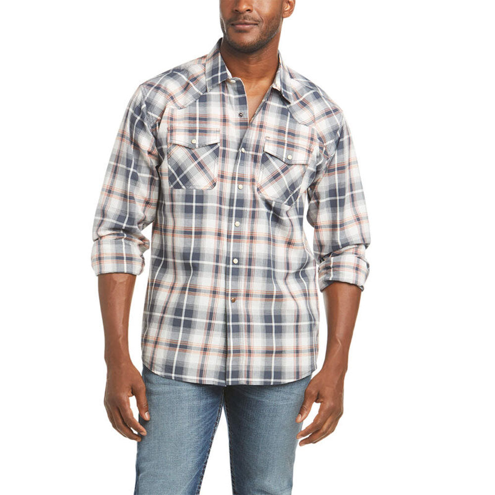 10036171 Ariat Men's Adam Retro Fit Snap Shirt Long Sleeve Plaid