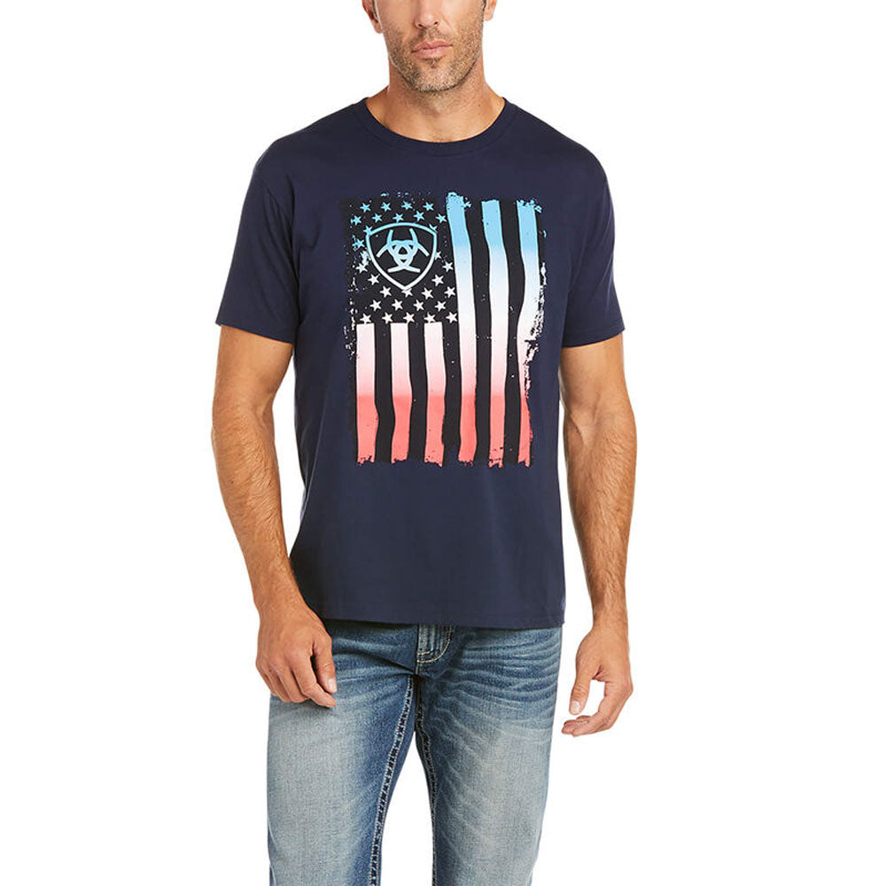 10036558 Ariat Men's Ariat Memorial T-Shirt Navy