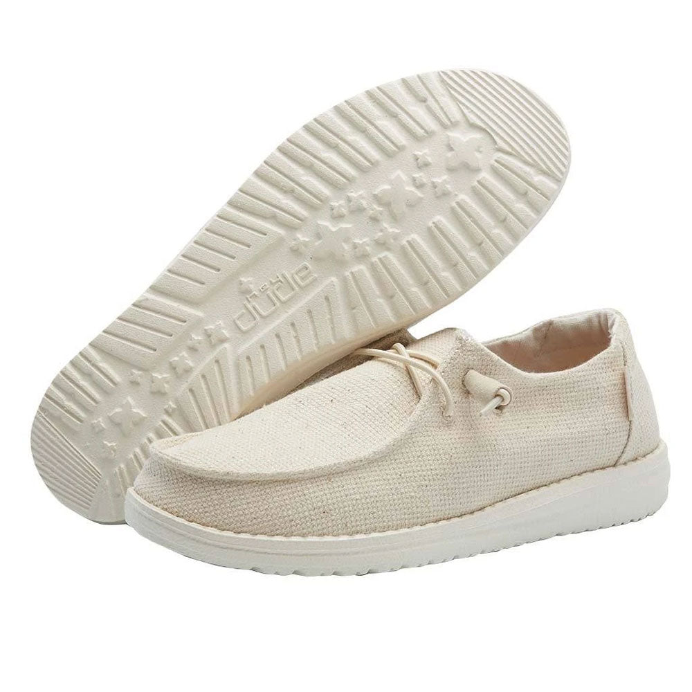 121410153 Hey Dude Women's Wendy Canvas Shoe - Hemp Cream