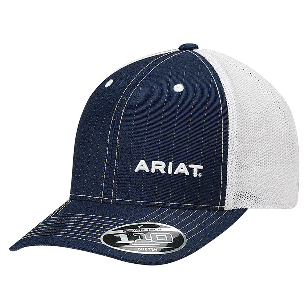 1596103 Ariat Men's FlexFit 110 Logo Ball Cap Blue & White