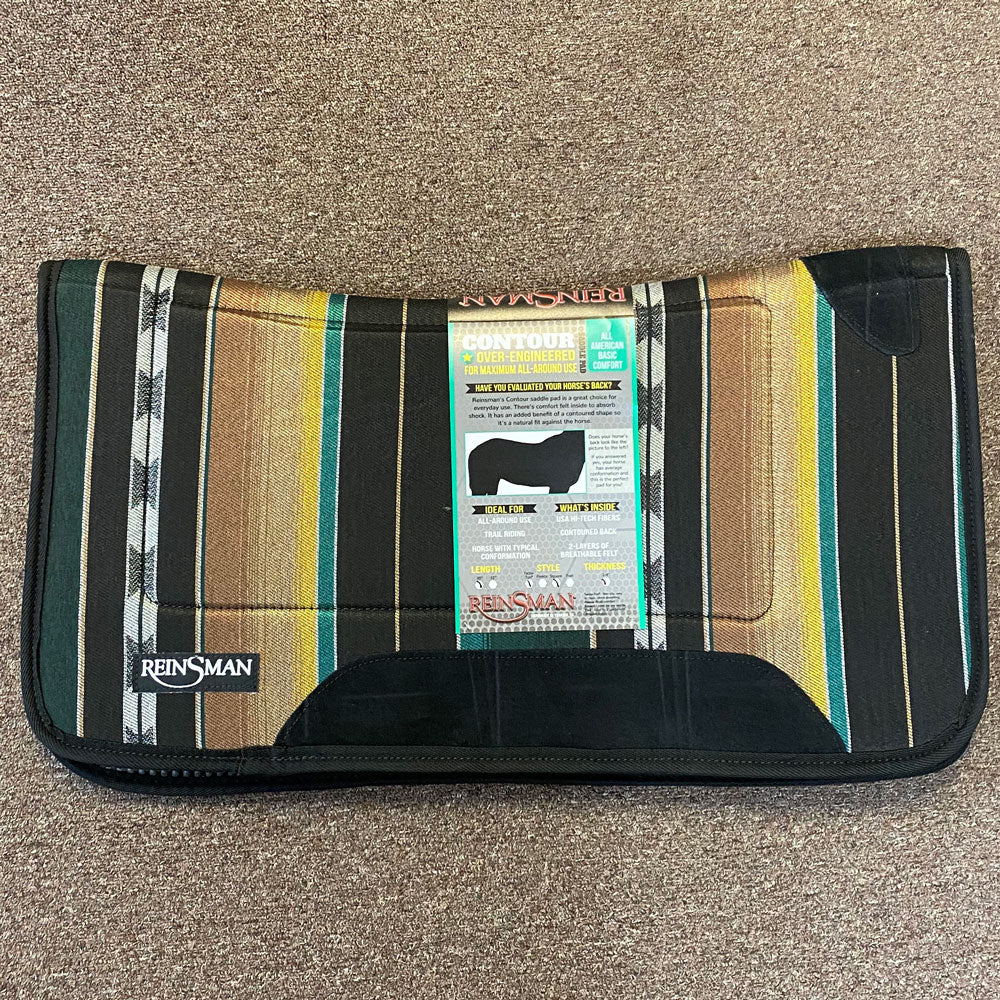 24523T Reinsman Square Contour Saddle Pad with Tacky-Too Bottom 30x30