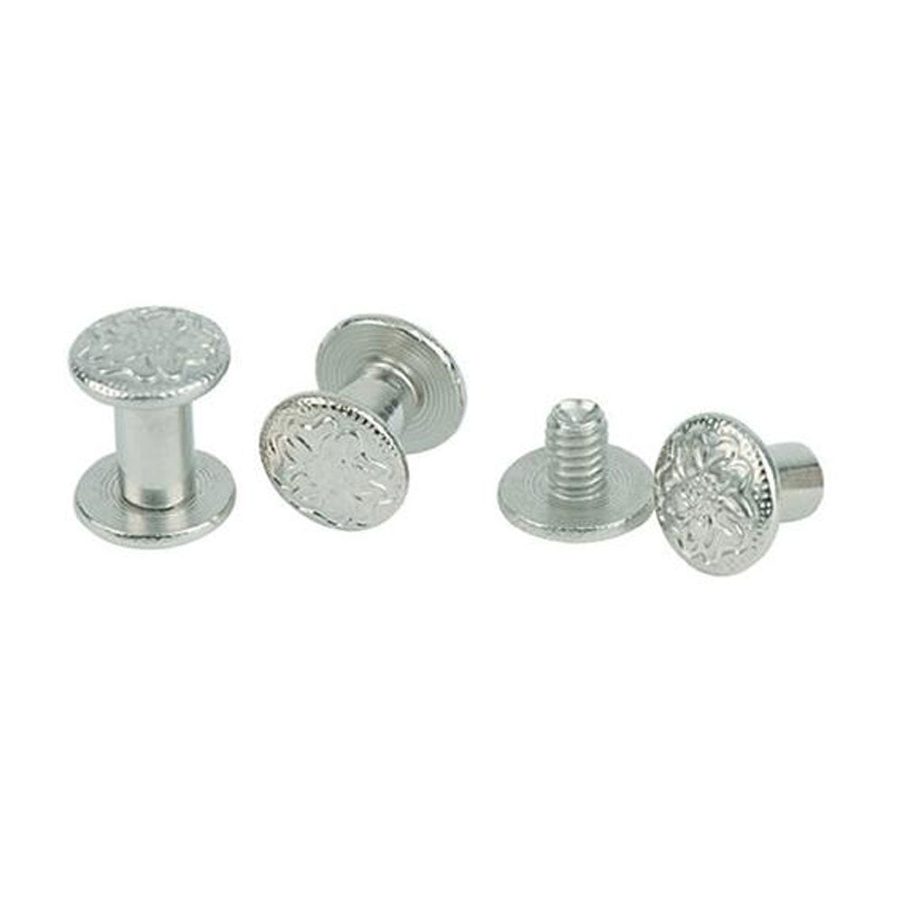30-1100 Weaver Leather Chicago Screws with Floral Engraving