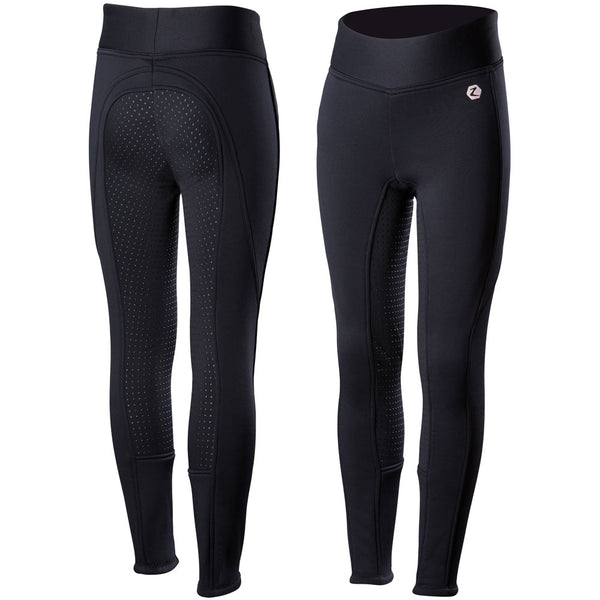 36611 Horze Active JR Silicone Fleece Lined Winter FS Tights