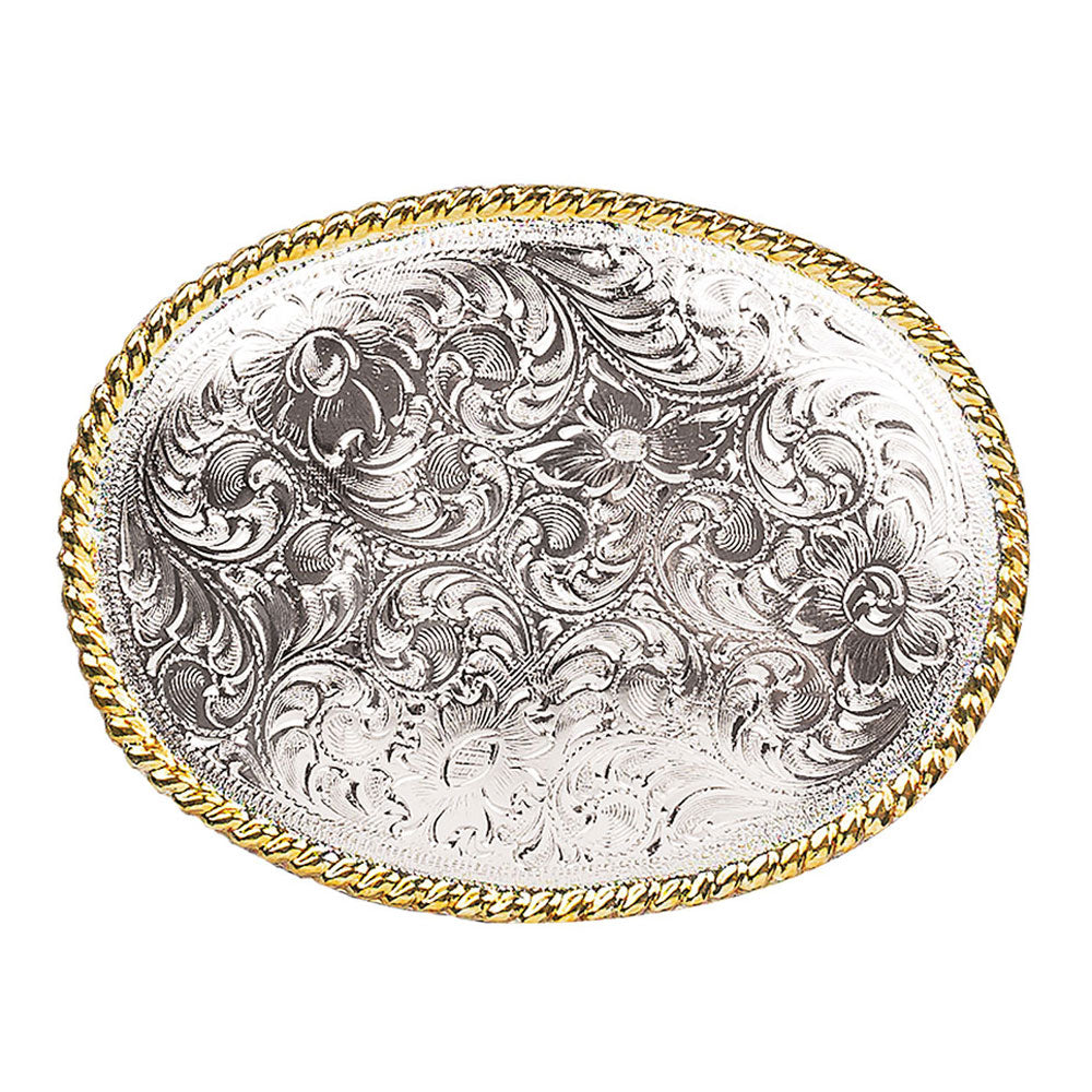37220 Nocona Men's Oval Scrolled Engraved Belt Buckle