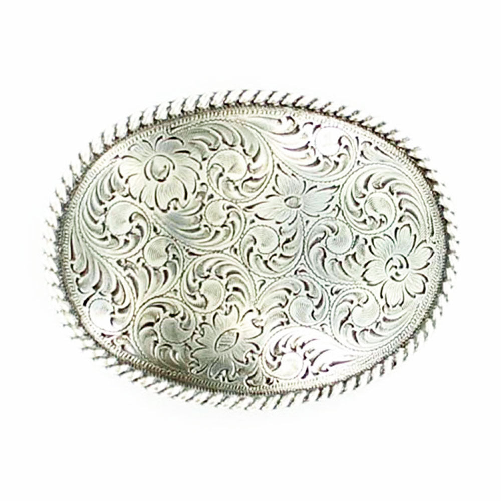 37222 Nocona Men's Oval Scrolled Western Belt Buckle