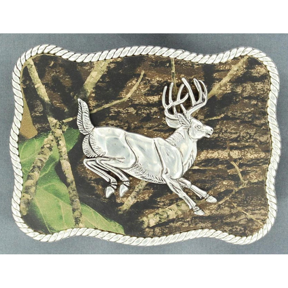 37960  Nocona Men's Mossy Oak Jumping Buck Belt Buckle