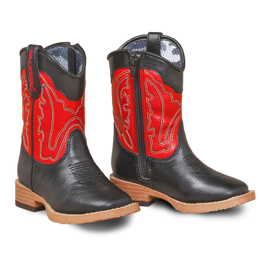 Twister Double Barrel Youth and Toddler Trail Boss Western Boot