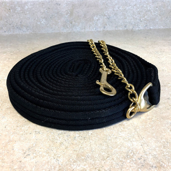 464906 Centaur® Padded Lunge Line with Chain - Black