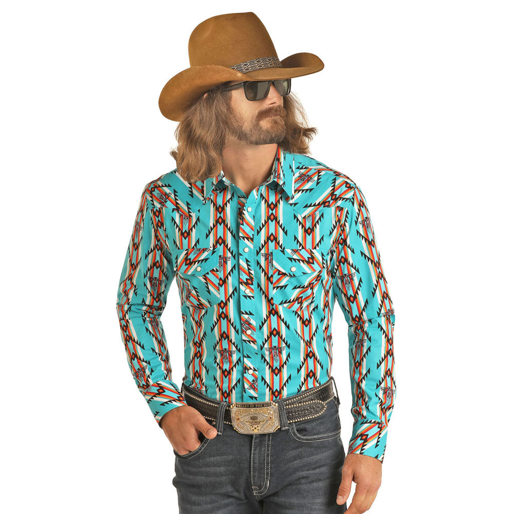 B2S6716 Dale Brisby Men's Long Sleeve Thunderbird Western Snap Shirt