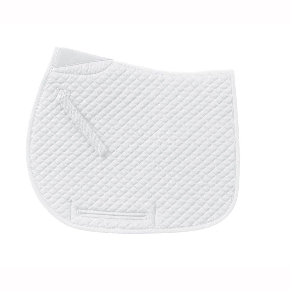 469700 Centaur Mini Diamond Quilted Dressage Pad White