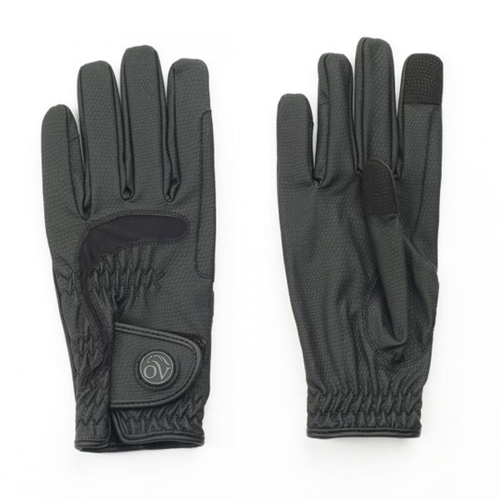 470824 Ovation LuxeGrip Adult Black Stretch Riding Glove