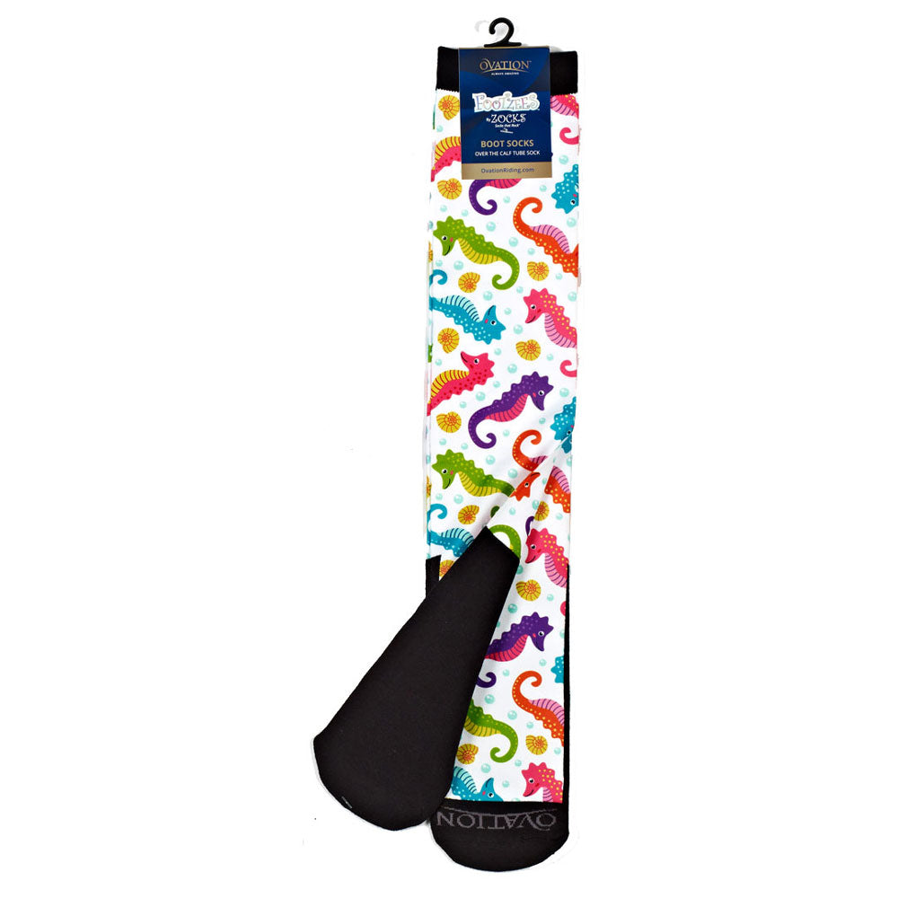 470932 Ovation FootZees by Zocks Boot Socks C1917 - Seahorse Swirl