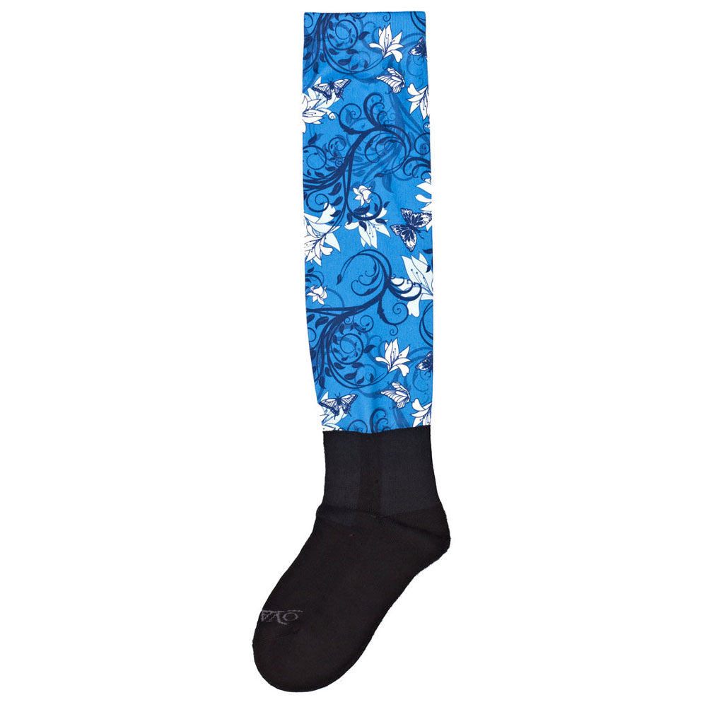 470933 Ovation by Zocks Performerz Boot Socks - Secret Garden Blue C1919