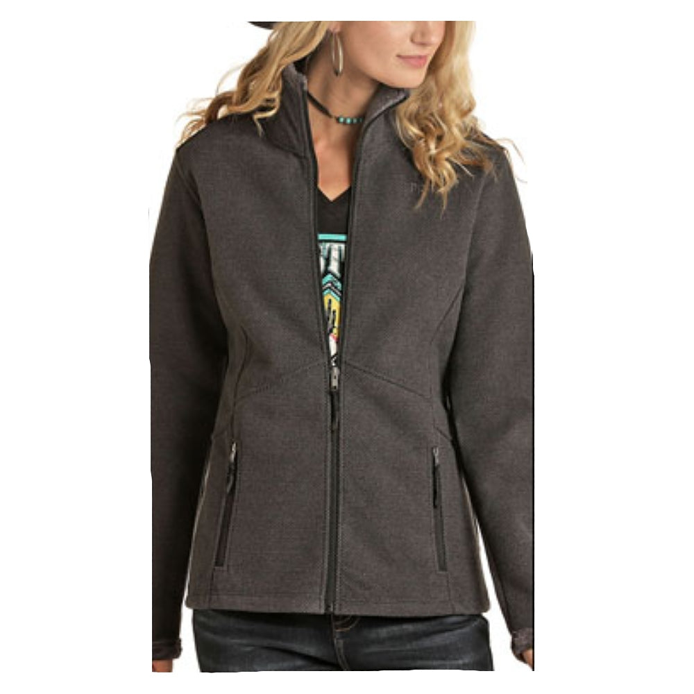52-6660 Powder River Outfitters Ladies Waffle Knit Jacket