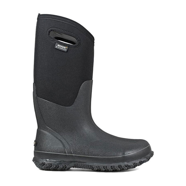 60153 Bogs Women's Classic High Farm Boot with Handles Black