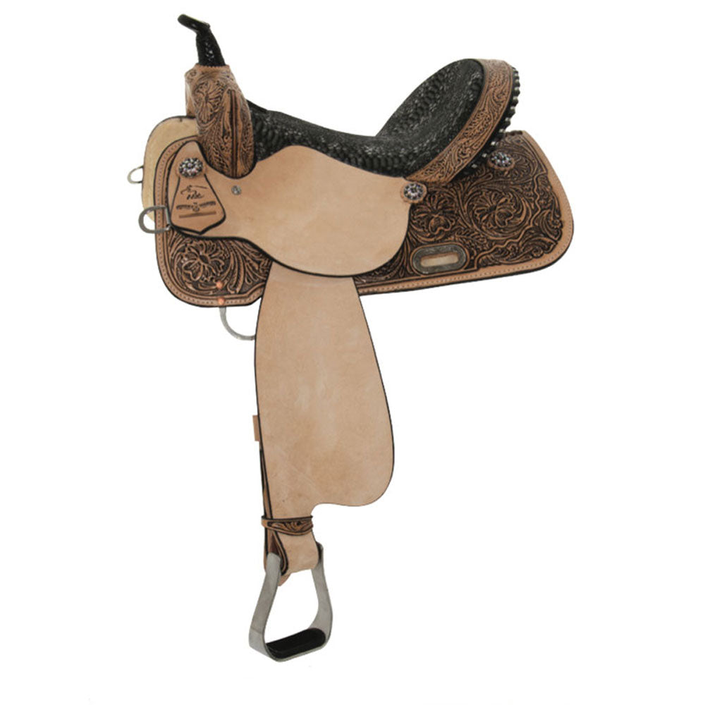6224-0606-05 High Horse Jewel Barrel Saddle 16 Inch Seat Wide Tree