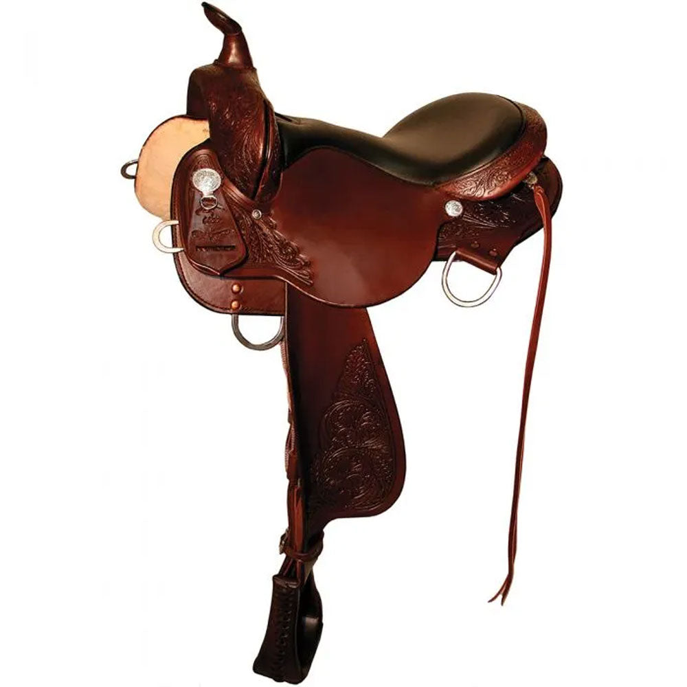6870-1601-04 High Horse Round Rock Gaited Trail Saddle 16 Inch Walnut