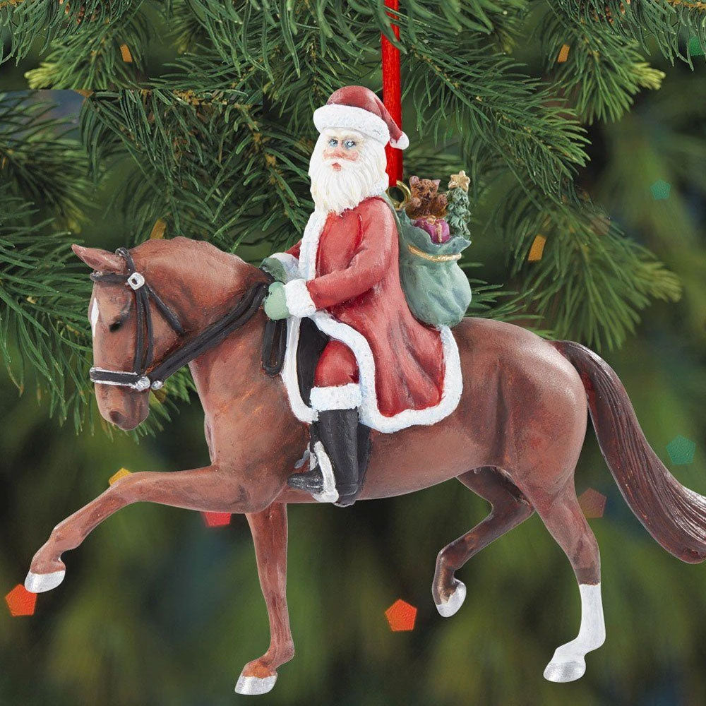 700653 2020 Breyer Dressage Santa Ornament