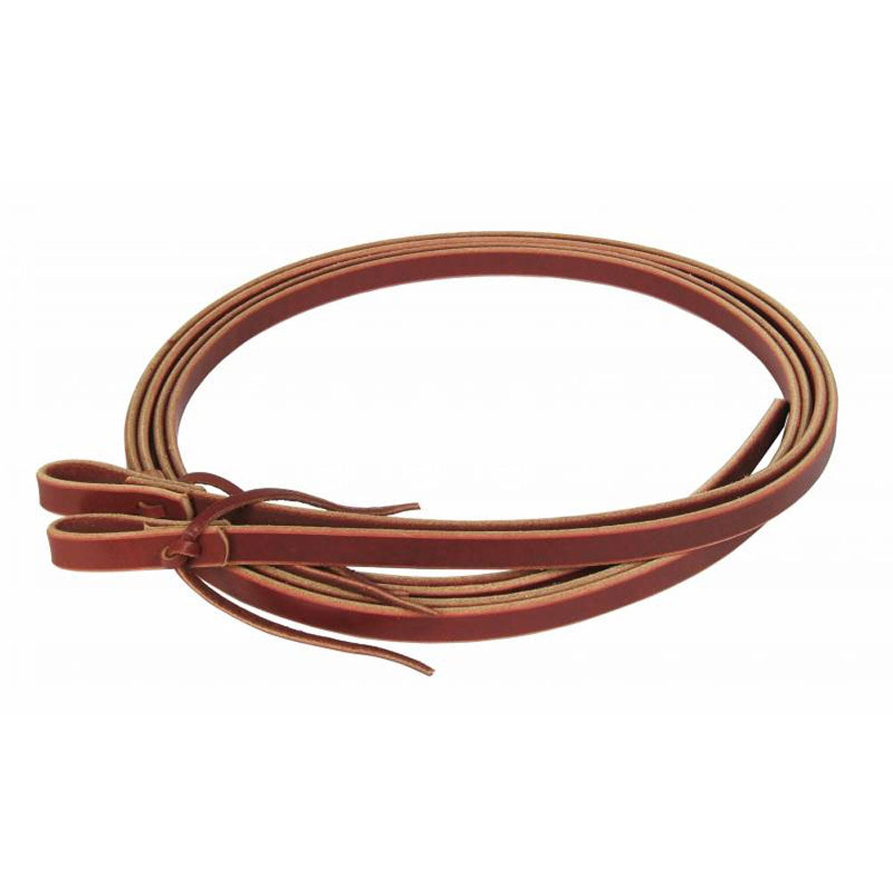 7061BUR Professionals Choice Burgundy Latigo Split Rein Waterloop 7 Ft