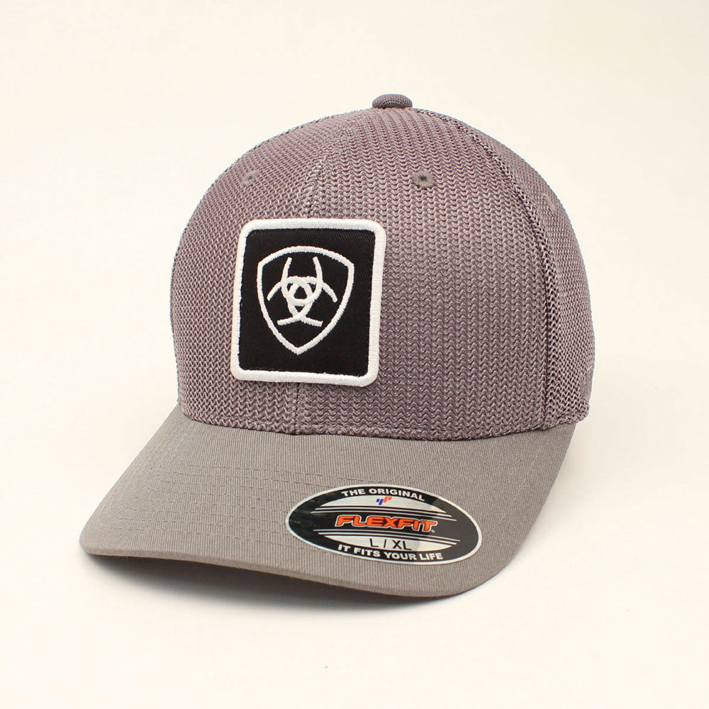 A300001403 Ariat Men's Mesh Ball Cap Grey