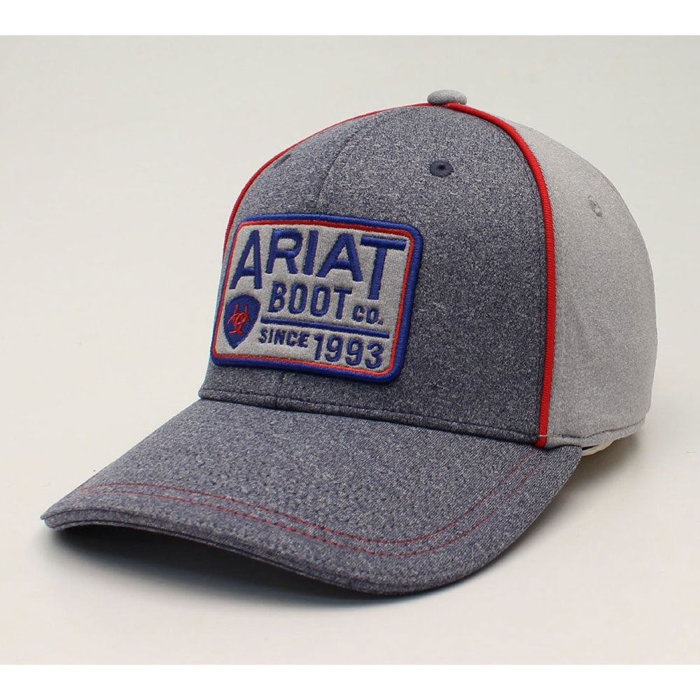 A300012406 Ariat Men's Heather Patch Snap Back Logo Grey