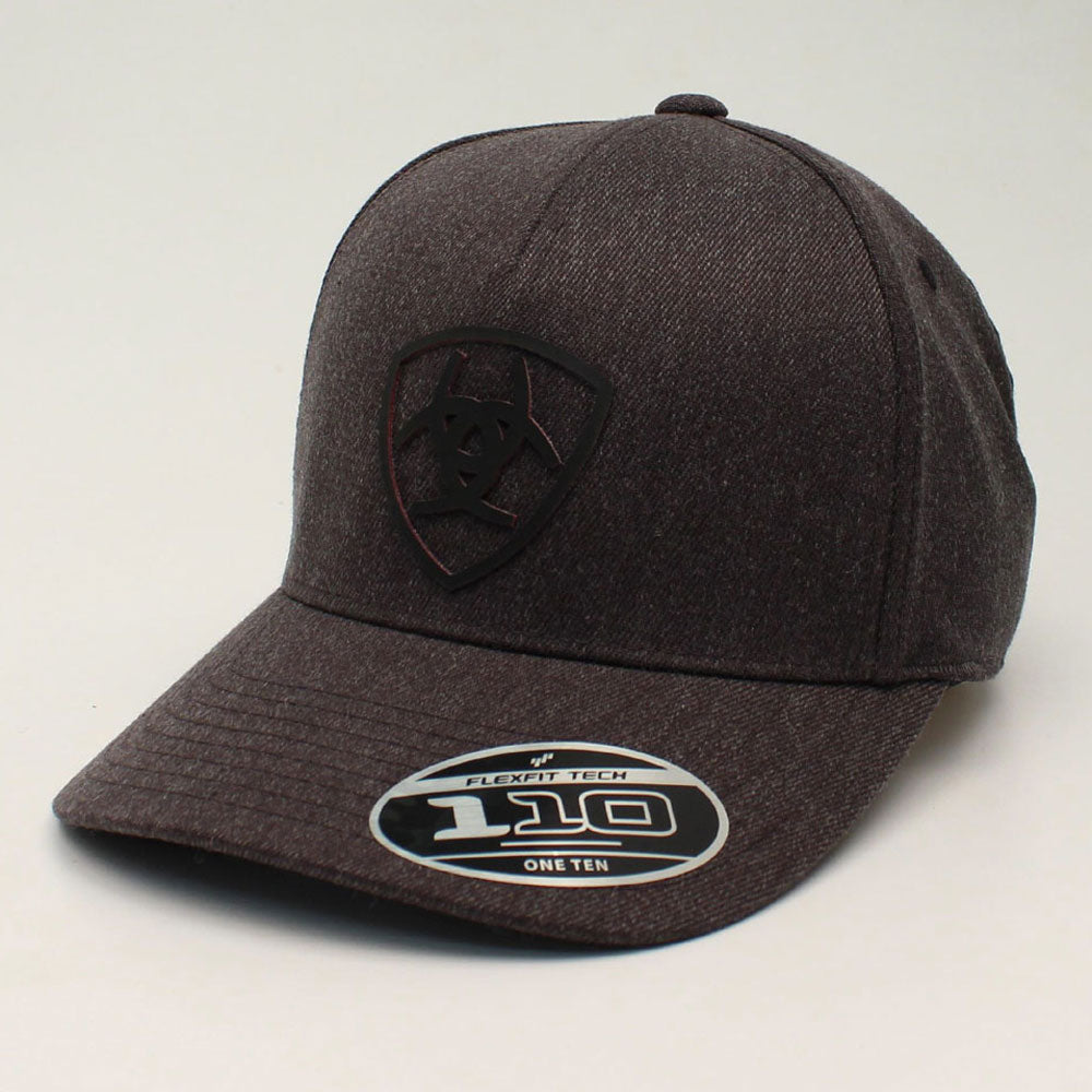 A300013407 Ariat Men's Charcoal Flexfit110 Snap Back Logo Cap