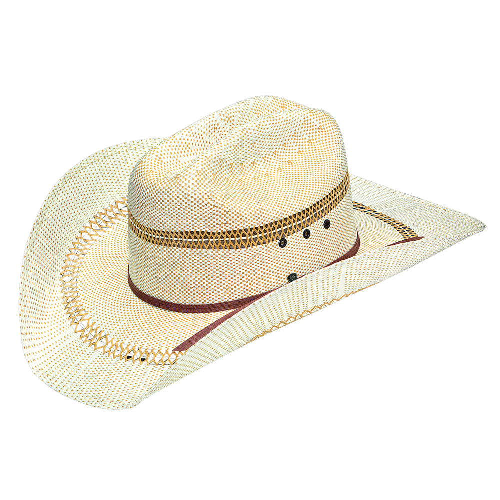 A73124 Ariat Bangora 2 Cord Golden Brown Band Western Straw Hat