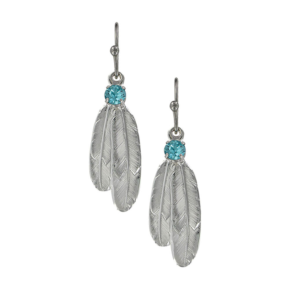 ER3712LTQ Montana Silversmiths Gift of Freedom Feather Earrings