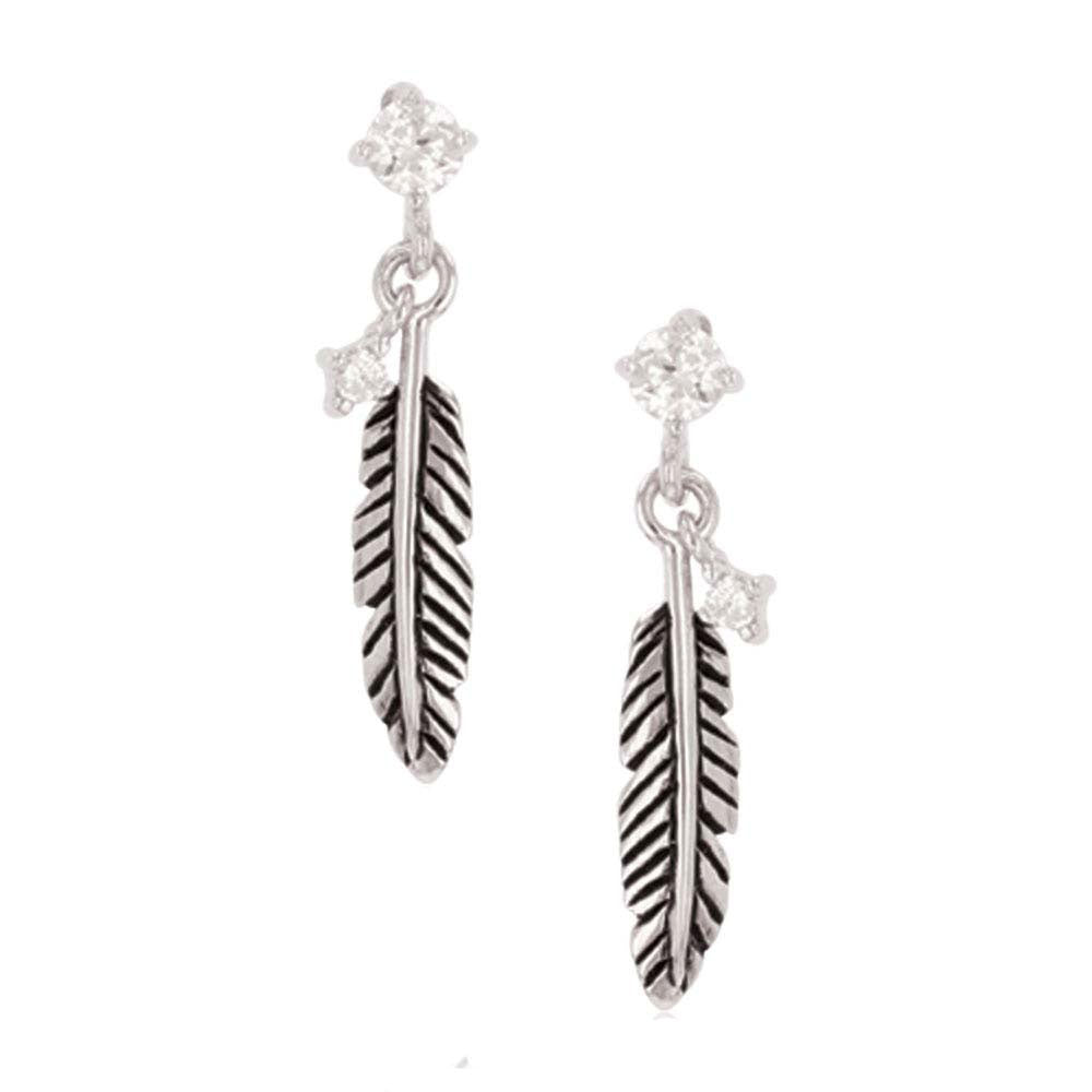 ER4526 Montana Silversmiths Feather Whispers Earrings