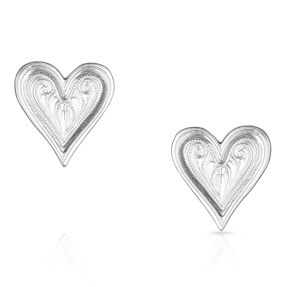 ER4701 Montana Silversmiths Just My Heart Earrings