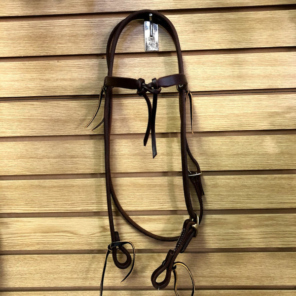 Huber's Custom Tack Leather Futurity Browband Headstall
