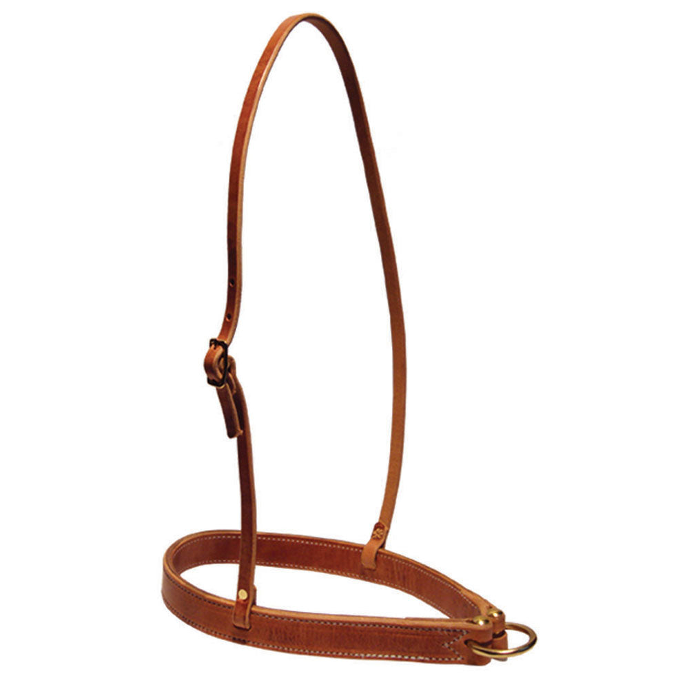 H915 Wire Horse Leather Noseband Hermann Oak Harness Leather