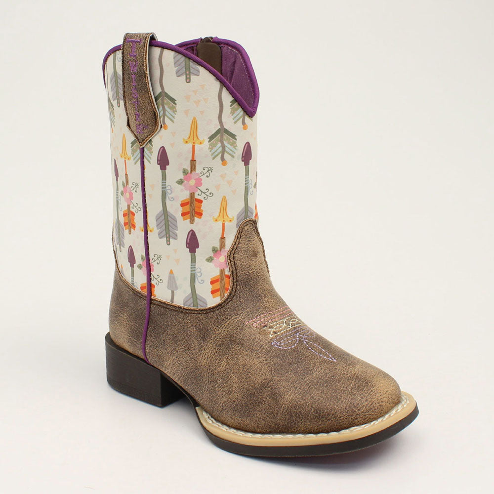 Twister Hannah Youth & Infant Western Boot Brown