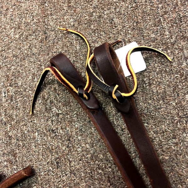 Huber's Custom Tack Leather 8 Foot Western Reins