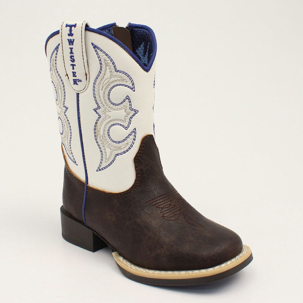Twister Joshua Youth & Toddler Brown Western Boot