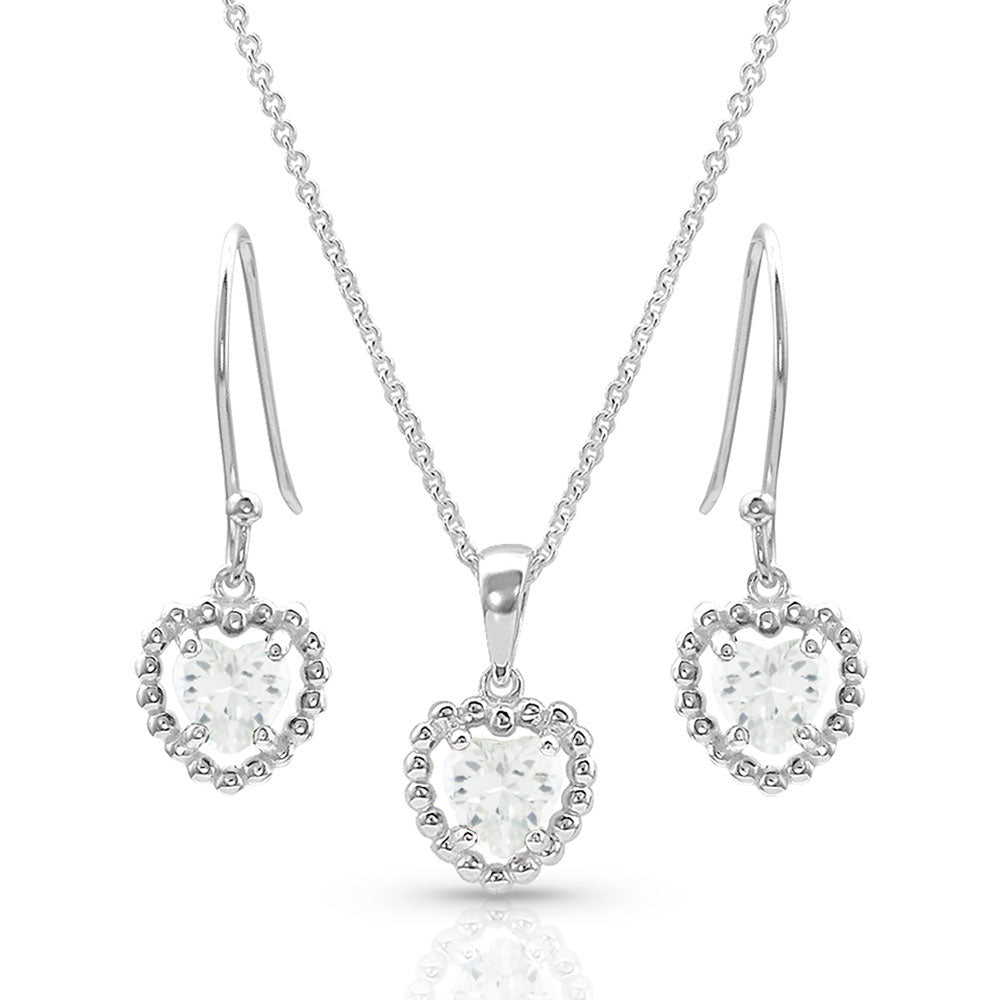 JS4653 Montana Silversmiths Frozen Heart Jewelry Set