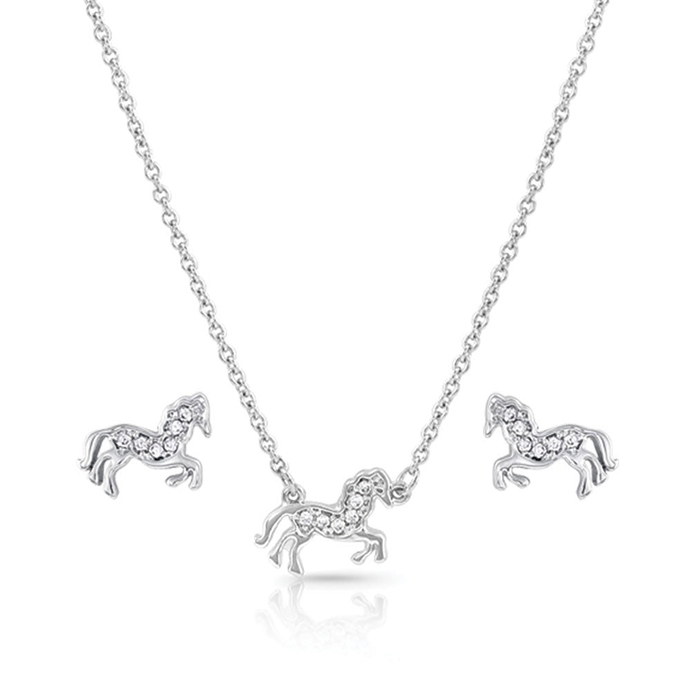 JS4735 Montana Silversmiths All The Pretty Horses Jewelry Set